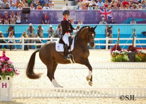 Charlotte and Valegro in action - team GB