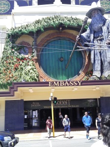The Embassy Theatre, Wellington, NZ, decked out for the premiere of The Hobbit