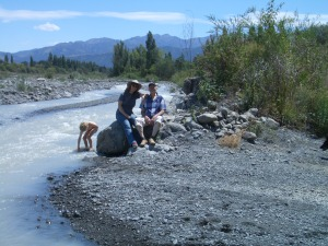 That's Julia's youngest playing in the river - now I totally see why they want to live there!