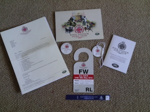 Passes and information for Royal Windsor Horse Show, 2014