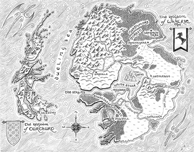 A Dance of Dragons World Map